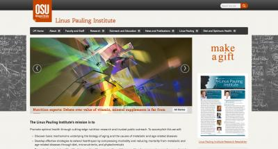 Oregon State University Linus Pauling Institute Home Page - 2015