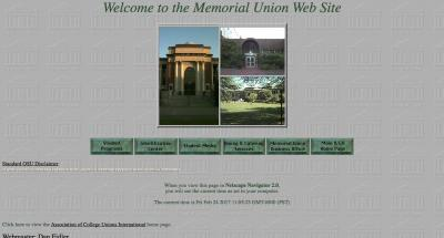 Oregon State University Home Page - 1996