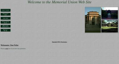 Oregon State University Memorial Union Home Page - 1997