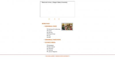 Oregon State University Memorial Union Home Page - 2001