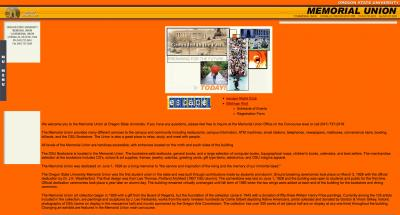 Oregon State University Memorial Union Home Page - 2003