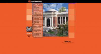 Oregon State University Memorial Union Home Page - 2007