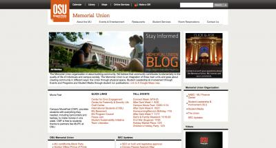 Oregon State University Memorial Union Home Page - 2011