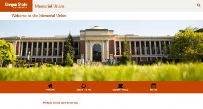 Oregon State University Memorial Union Home Page - 2016