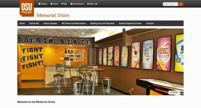 Oregon State University Memorial Union Home Page - 2014