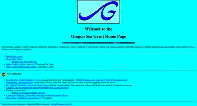 Oregon State University Oregon Sea Grant Home Page - 1996
