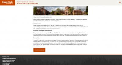 Oregon State University Brand Guidelines Home Page - 2017