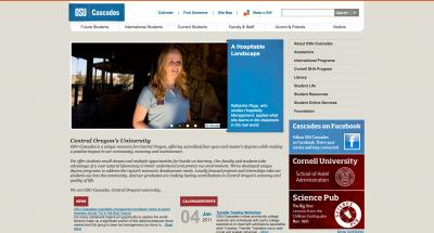 Oregon State University Cascades Home Page - 2011