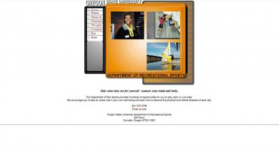 Oregon State University Recreational Sports Home Page - 2001