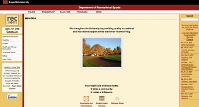Oregon State University Recreational Sports Home Page - 2007