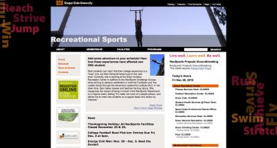 Oregon State University Recreational Sports Home Page - 2010