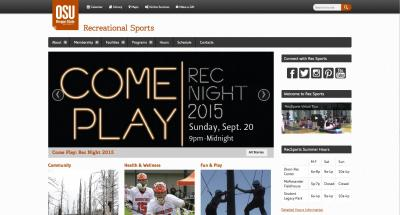 Oregon State University Recreational Sports Home Page - 2015