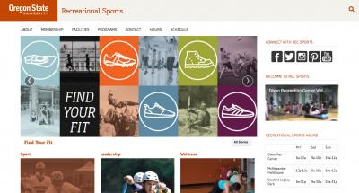 Oregon State University Recreational Sports Home Page - 2016