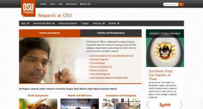 Oregon State University Research Office Home Page - 2014