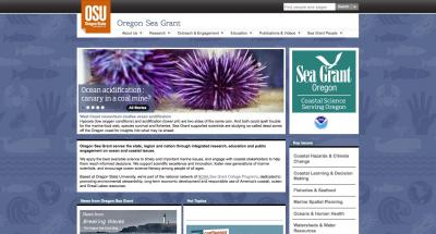 Oregon State University Oregon SeaGrant Home Page - 2012