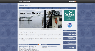 Oregon State University Oregon SeaGrant Home Page - 2015