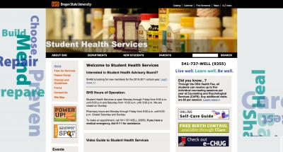Oregon State University Student Health Services Home Page - 2010