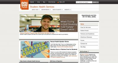 Oregon State University Student Health Services Home Page- 2010