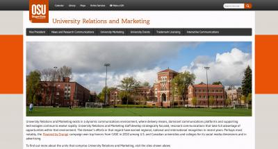 Oregon State University Relations and Marketing Home Page - 2015