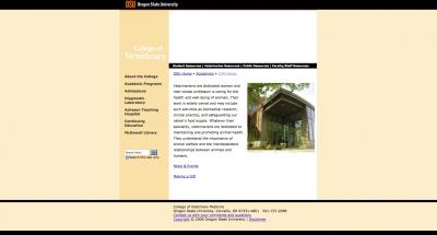 Oregon State University College of Veterinary Medicine Home Page - 2006